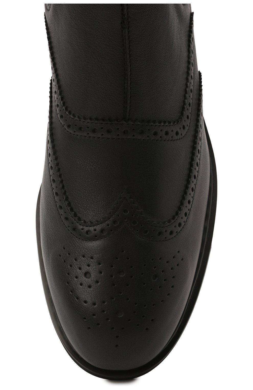 Мужские кожаные челси HOGAN темно-серого цвета, арт. HXM5760DT40Q7Q | Фото 5 (Материал внутренний: Текстиль; Подошва: Плоская; Мужское Кросс-КТ: Сапоги-обувь, Челси-обувь)