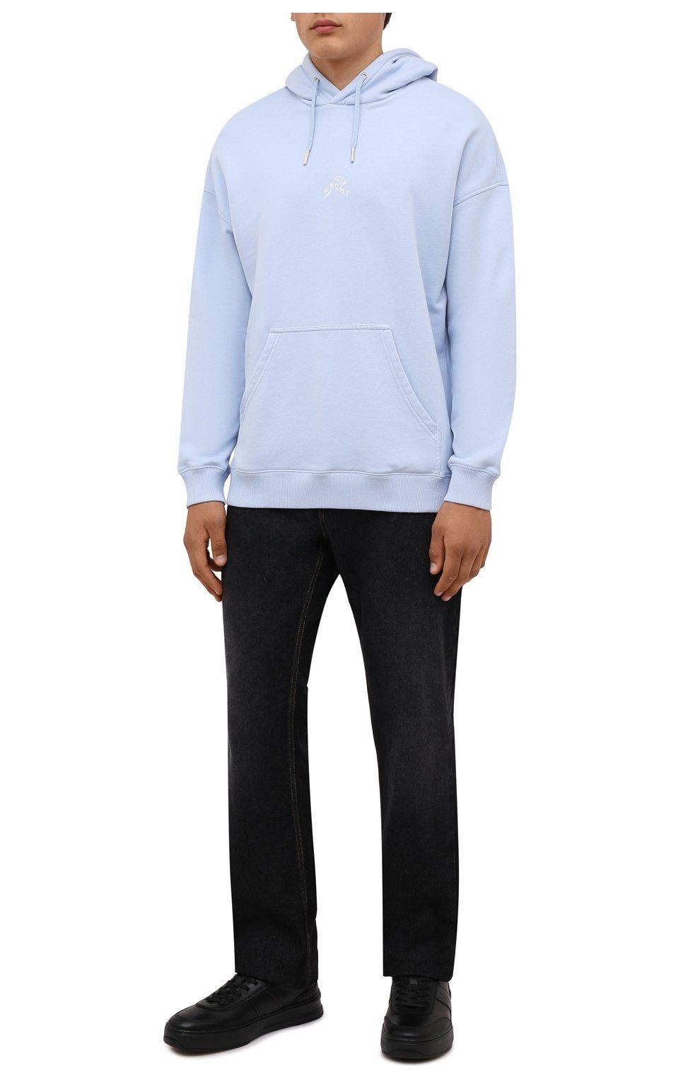 Мужские кожаные кеды TOD'S черного цвета, арт. XXM79B0DP30JUS | Фото 2 (Материал внутренний: Натуральная кожа; Подошва: Массивная)