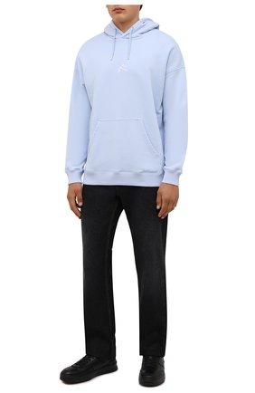 Мужские кожаные кеды TOD'S черного цвета, арт. XXM79B0DP30JUS | Фото 2
