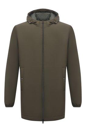 Мужская утепленная куртка HERNO хаки цвета, арт. PA008UR/12387S | Фото 1