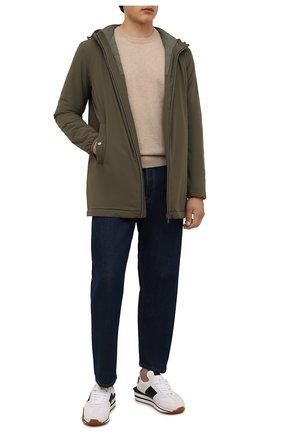 Мужская утепленная куртка HERNO хаки цвета, арт. PA008UR/12387S | Фото 2