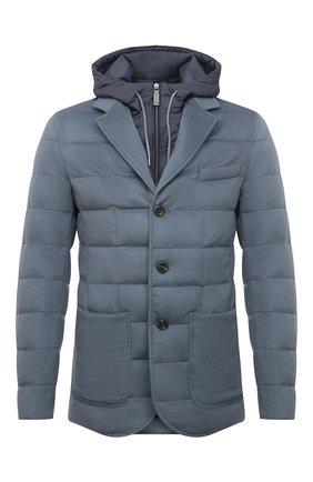 Мужская пуховая куртка HERNO голубого цвета, арт. PI075UR/38017 | Фото 1
