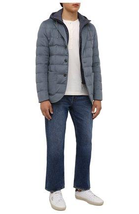 Мужская пуховая куртка HERNO голубого цвета, арт. PI075UR/38017 | Фото 2