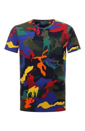 Мужская хлопковая футболка POLO RALPH LAUREN разноцветного цвета, арт. 710842795 | Фото 1 (Материал внешний: Хлопок; Длина (для топов): Стандартные; Рукава: Короткие; Принт: С принтом)