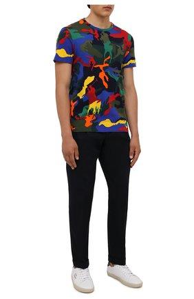 Мужская хлопковая футболка POLO RALPH LAUREN разноцветного цвета, арт. 710842795 | Фото 2 (Материал внешний: Хлопок; Длина (для топов): Стандартные; Рукава: Короткие; Принт: С принтом)