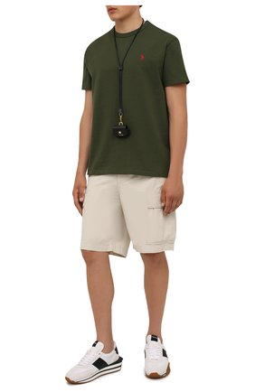 Мужские хлопковые шорты POLO RALPH LAUREN бежевого цвета, арт. 710835030   Фото 2