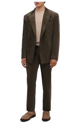 Мужские хлопковые брюки RALPH LAUREN хаки цвета, арт. 798843733 | Фото 2 (Материал внешний: Хлопок; Случай: Повседневный; Стили: Кэжуэл; Длина (брюки, джинсы): Стандартные; Материал подклада: Вискоза)