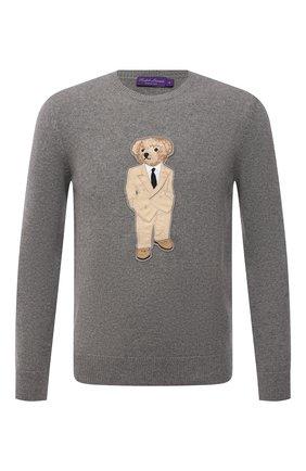 Мужской кашемировый свитер RALPH LAUREN светло-серого цвета, арт. 790849284 | Фото 1