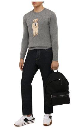 Мужской кашемировый свитер RALPH LAUREN светло-серого цвета, арт. 790849284 | Фото 2