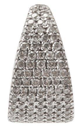 Женские моносерьга-кафф J-POINT серебряного цвета, арт. КФ857.16.250221.4W | Фото 1 (Кросс-КТ: моносерьга; Материал: Металл)