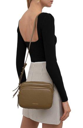 Женская сумка lea COCCINELLE хаки цвета, арт. E1 I60 15 01 01   Фото 2