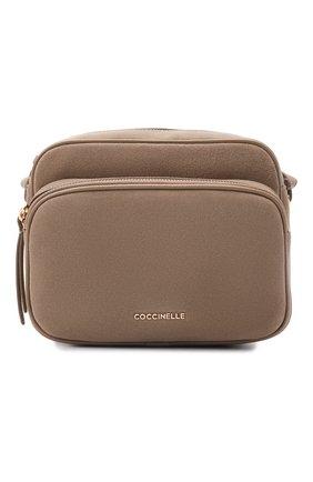 Женская сумка lea suede COCCINELLE темно-бежевого цвета, арт. E1 I62 15 01 01   Фото 1