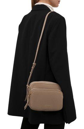 Женская сумка lea suede COCCINELLE темно-бежевого цвета, арт. E1 I62 15 01 01   Фото 2