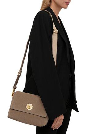 Женская сумка liya suede COCCINELLE темно-бежевого цвета, арт. E1 ID1 12 06 01   Фото 2