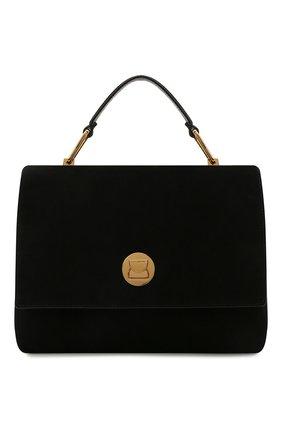 Женская сумка liya suede COCCINELLE черного цвета, арт. E1 ID1 18 01 01   Фото 1