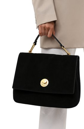 Женская сумка liya suede COCCINELLE черного цвета, арт. E1 ID1 18 01 01   Фото 2