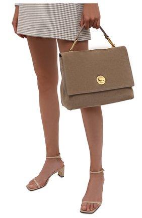 Женская сумка liya suede COCCINELLE темно-бежевого цвета, арт. E1 ID1 18 01 01   Фото 2