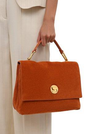 Женская сумка liya suede COCCINELLE оранжевого цвета, арт. E1 ID1 18 01 01   Фото 2