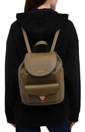 Женский рюкзак beat soft COCCINELLE хаки цвета, арт. E1 IF6 14 01 01   Фото 2