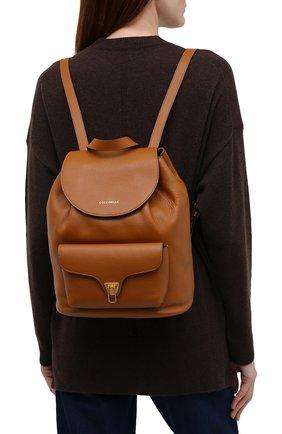 Женский рюкзак beat soft COCCINELLE коричневого цвета, арт. E1 IF6 14 01 01   Фото 2