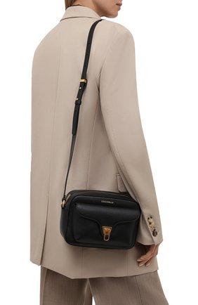 Женская сумка beat soft COCCINELLE черного цвета, арт. E1 IF6 15 02 01   Фото 2