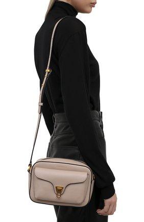 Женская сумка beat soft COCCINELLE светло-розового цвета, арт. E1 IF6 15 02 01   Фото 2