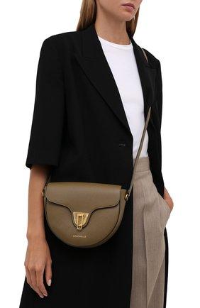 Женская сумка beat soft COCCINELLE хаки цвета, арт. E1 IF6 15 03 01   Фото 2