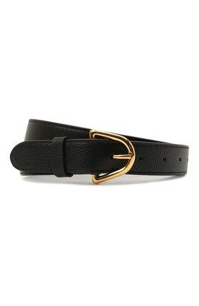 Женский кожаный ремень COCCINELLE черного цвета, арт. E3 IZ5 11 56 07   Фото 1