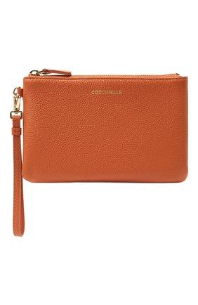 Женская кожаная косметичка COCCINELLE оранжевого цвета, арт. E5 IV1 19 A0 07   Фото 1