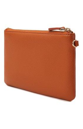 Женская кожаная косметичка COCCINELLE оранжевого цвета, арт. E5 IV1 19 A0 07   Фото 2