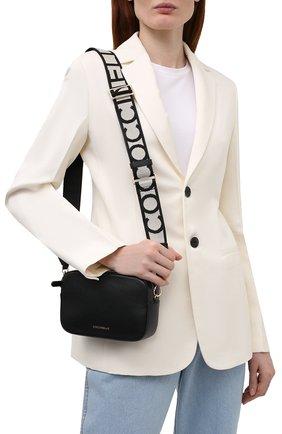 Женская сумка tebe COCCINELLE черного цвета, арт. E5 IV3 55 I1 07   Фото 2