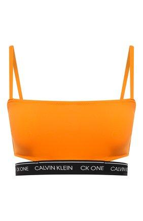 Женский бра-топ CALVIN KLEIN оранжевого цвета, арт. KW0KW01411   Фото 1