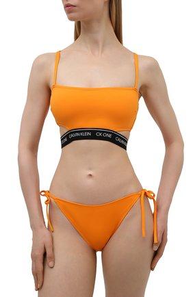 Женский бра-топ CALVIN KLEIN оранжевого цвета, арт. KW0KW01411   Фото 2