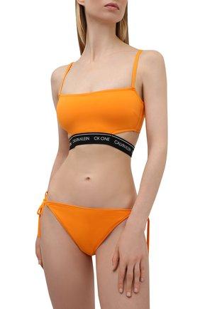 Женский плавки-бикини CALVIN KLEIN оранжевого цвета, арт. KW0KW01412   Фото 2
