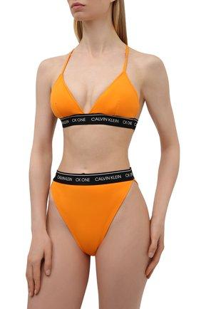 Женский плавки-бикини CALVIN KLEIN оранжевого цвета, арт. KW0KW01413   Фото 2
