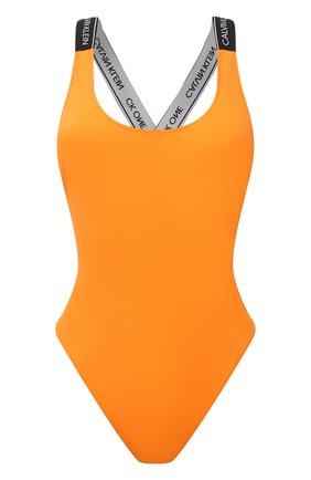 Женский слитный купальник CALVIN KLEIN оранжевого цвета, арт. KW0KW01415   Фото 1