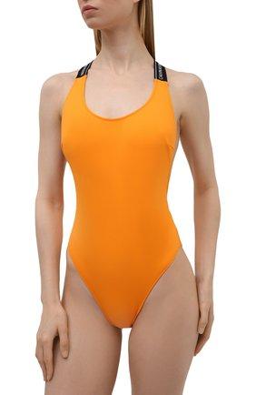 Женский слитный купальник CALVIN KLEIN оранжевого цвета, арт. KW0KW01415   Фото 2