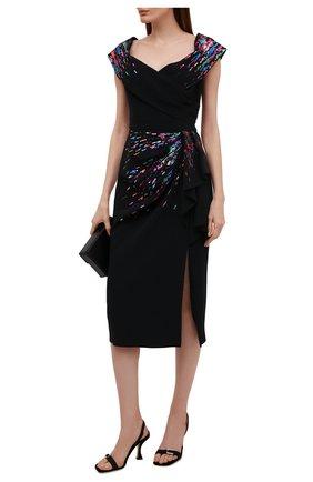 Женское платье из вискозы с пайетками ZUHAIR MURAD черного цвета, арт. DRS21014/CRCA007 | Фото 2