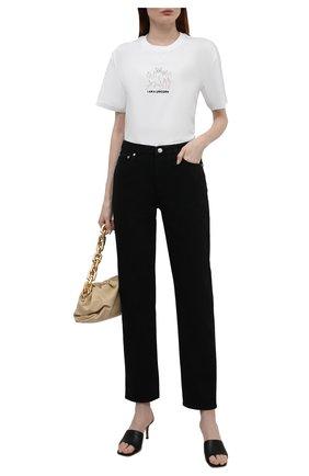 Женская хлопковая футболка BURBERRY белого цвета, арт. 8042984 | Фото 2