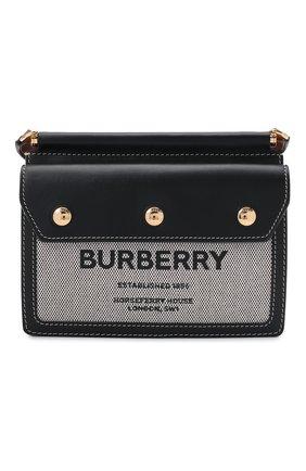 Женская сумка title small BURBERRY черного цвета, арт. 8042852 | Фото 1