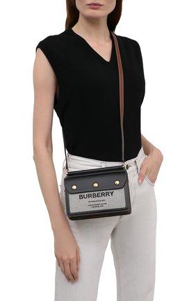 Женская сумка title small BURBERRY черного цвета, арт. 8042852 | Фото 2