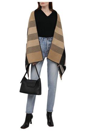 Женская шаль из шерсти  и кашемира BURBERRY бежевого цвета, арт. 8021949 | Фото 2
