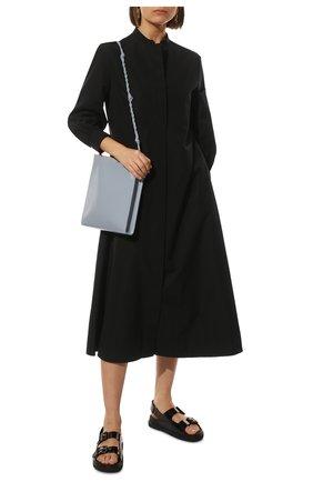 Женские резиновые сандалии GUCCI черного цвета, арт. 660243/J8700 | Фото 2 (Подошва: Платформа; Материал внешний: Резина)