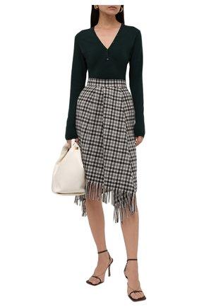 Женская шерстяная юбка BRUNELLO CUCINELLI бежевого цвета, арт. MB039G3141 | Фото 2 (Материал внешний: Шерсть; Длина Ж (юбки, платья, шорты): Миди; Материал подклада: Купро; Женское Кросс-КТ: Юбка-одежда; Стили: Кэжуэл)