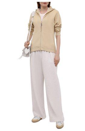 Женский кашемировый кардиган BRUNELLO CUCINELLI  цвета, арт. M12164806   Фото 2 (Материал внешний: Шерсть, Кашемир; Длина (для топов): Стандартные; Рукава: Длинные; Стили: Кэжуэл; Женское Кросс-КТ: Кардиган-одежда)