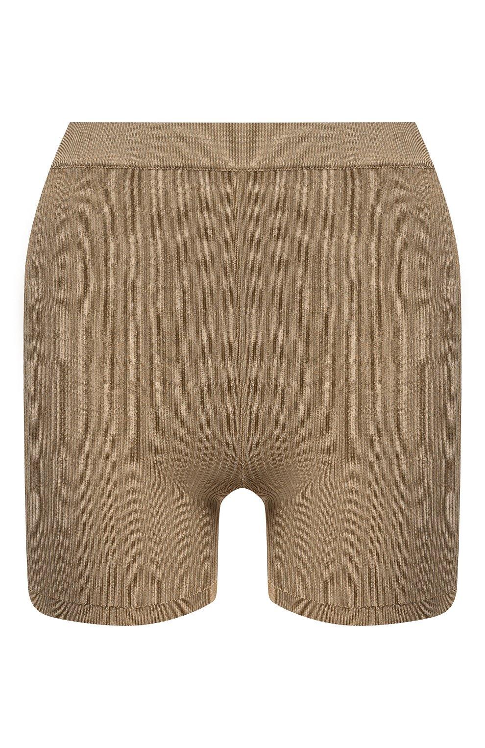 Женские шорты из вискозы SAINT LAURENT бежевого цвета, арт. 660275/Y75BE   Фото 1 (Женское Кросс-КТ: Шорты-одежда; Стили: Гламурный; Длина Ж (юбки, платья, шорты): Мини; Материал внешний: Вискоза)