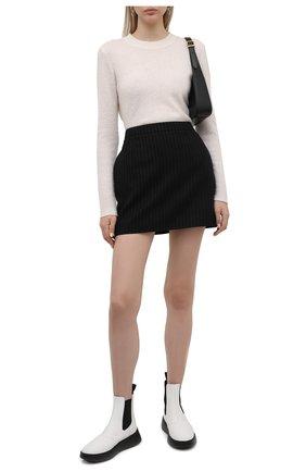 Женские комбинированные ботинки h562 HOGAN белого цвета, арт. HXW5620DR30Q6F | Фото 2