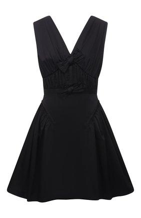 Женское хлопковое платье SELF-PORTRAIT черного цвета, арт. PF21-023 | Фото 1