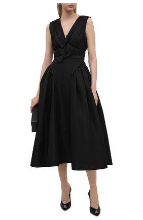 Женское платье SELF-PORTRAIT черного цвета, арт. PF21-023M | Фото 2