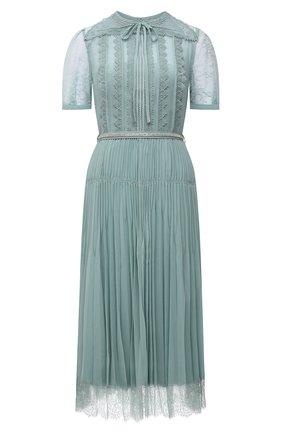 Женское платье SELF-PORTRAIT мятного цвета, арт. PF21-042 | Фото 1